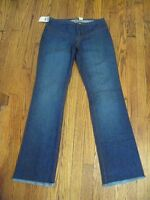 Women's Old Navy Fringed Hem Boot Cut Jeans 100% Cotton 4