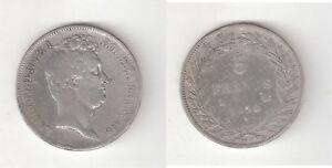 -065044) Francia France Louis Philippe I 5 Francs Franchi 1830 Argento Riche En Splendeur PoéTique Et Picturale