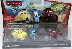 CARS-2-LUIGI-GUIDO-amp-ZIO-TOPOLINO-Mattel-Disney-Pixar