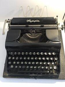 vintage typewriter olympia progress germany 50s vintage technique printing