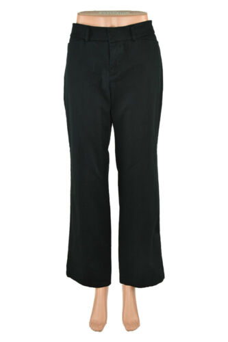 Dockers Women Pants Boot Cut 10 Petite Black Cotto