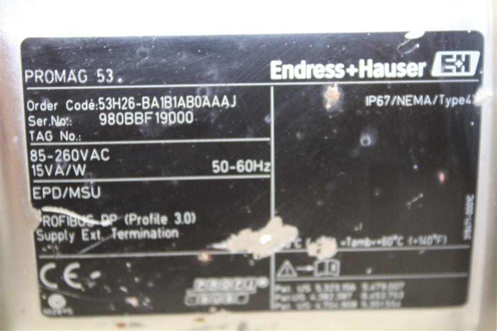 Endress Hauser ProMag H 53h26-ba1b1ab0aaaj Flow Meter 53H26BA1B1AB0AAAJ