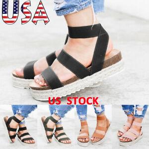Women-Platform-Wedge-Elastic-Strap-Sandals-Braided-Casual-Espadrille-Beach-Shoes