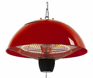 Energ 1500w Electric Infrared Outdoor Hanging Red Gazebo Patio