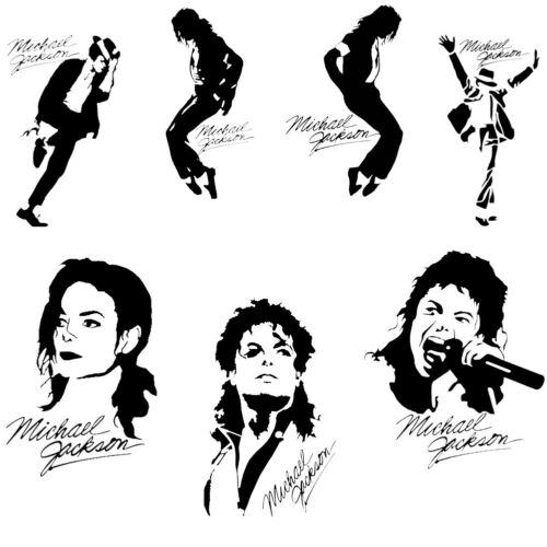 Michael Jackson Vinyl Decal Stickers Music Car Window Wall Decor Art Legend