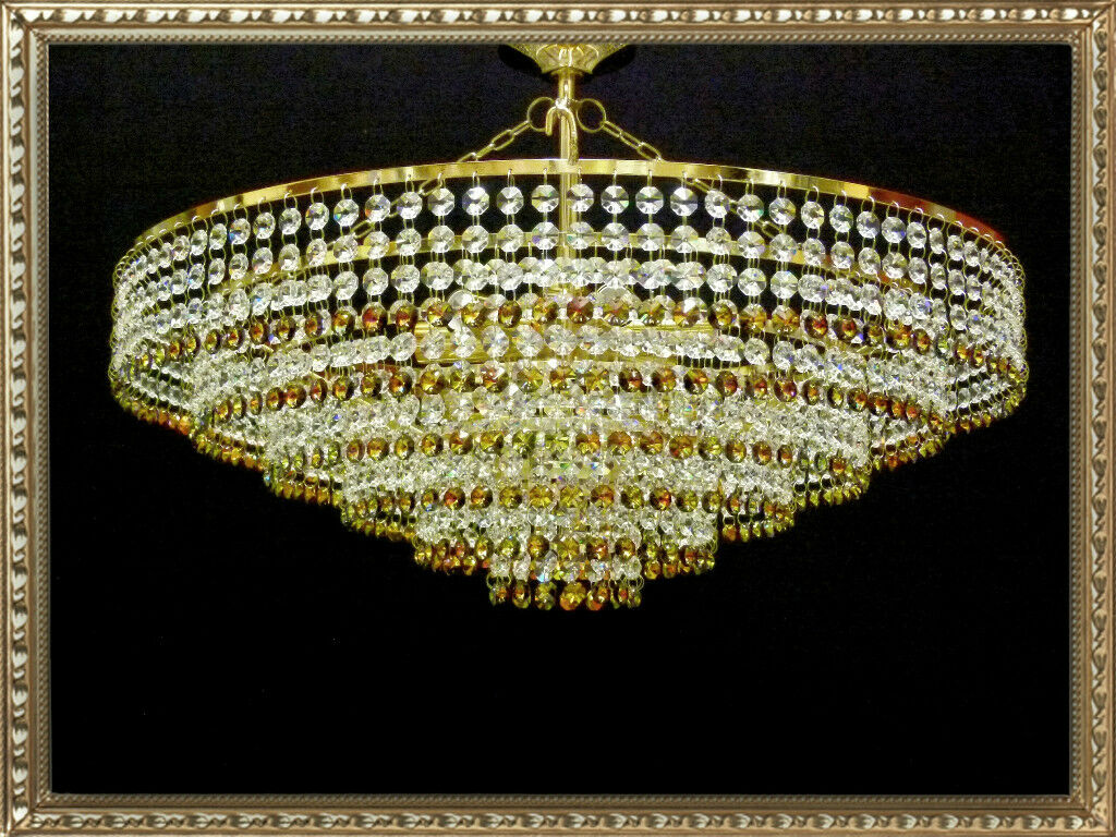 Cristal De Plomo De Candelabro De Luz De Techo Iluminación Lámpara oro it-pl-marea60