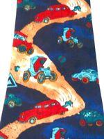 Old Fashion Cars Dirt Road Autos Men's Novelty Necktie Neck Tie Renaissance