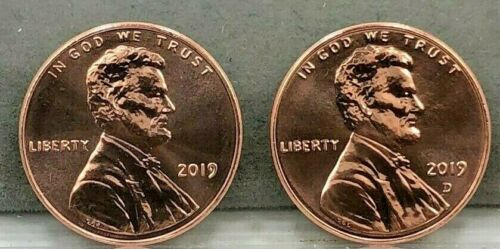 2019  P/&D  LINCOLN SHIELD CENTS ~ FROM UNCIRCULATED MINT SETS ~ 1 EACH P /& D