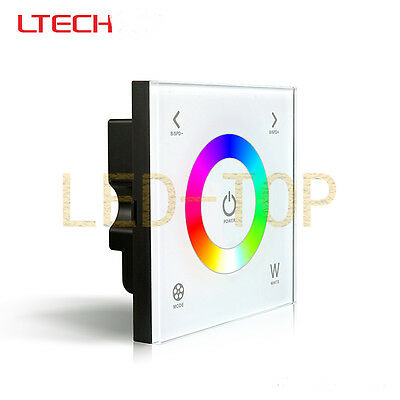 LTECH D4 Wall-Mounted RGBW Touch Panel Controller for RGBW Strip Light 12~24V