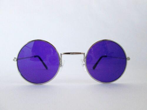 60S 70S HIPPIE RETRO GROOVY JOHN LENNON ROCKER COSTUME ROUND GLASSES LENS ADULT