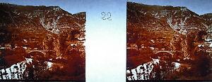 Plaque-photo-stereoscopique-photographie-Lozere-Saint-Chely-d-039-Apcher-vers-1930