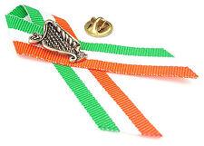 Harp With Ireland Colour Ribbon Irish Blessing Badge