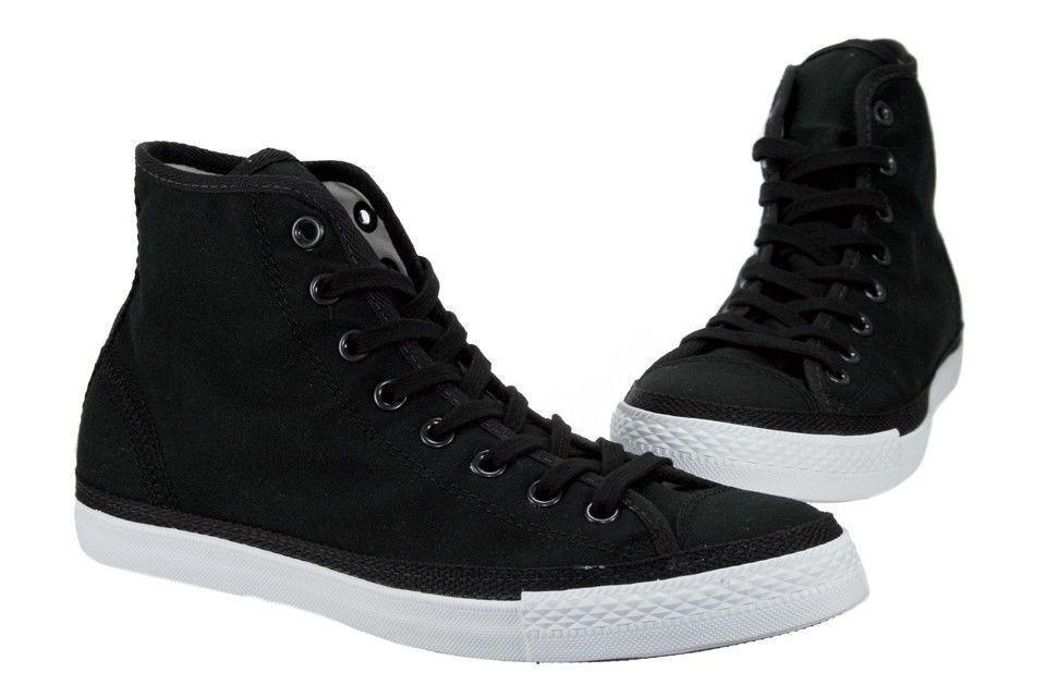 Converse Chuck Taylor All Star Hi Black Mens Womens Canvas Sneakers 129910C