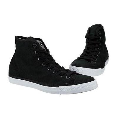 Converse Chuck Taylor All Star Hi Black Mens/Womens Canvas Sneakers 129910C