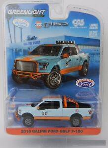 Greenlight-1-64-2016-Galpin-Ford-GULF-OIL-F-150-Pickup-Diecast-Light-Blue-51088