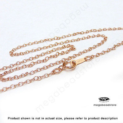 16 inch or 18 inch 14K Rose (Pink) Gold Filled Cable Chain Necklace FC19RGF