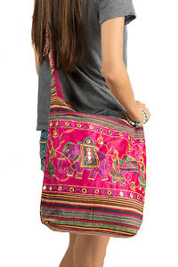 Pink-Cute-Hobo-Bag-Roomy-Spacious-Hippie-Elephant-Casual-Light-Weight-Casual
