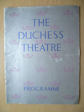 DUCHESS THEATRE PROGRAMME 1938- THE CORN IS GREEN by Emlyn Willams