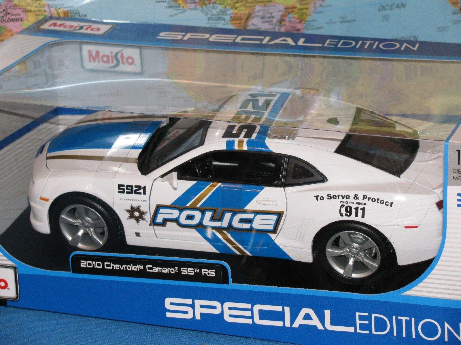 1 18 2010 CHEVROLET CAMARO SS SS SS POLICE MAISTO SPECIAL EDITION DIECAST BRAND NEW 2a70f1
