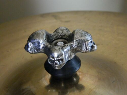 SKULL DRUM CYMBAL NUT 8mm size SOLID METAL Heavy duty Hand cast /& finished nuts