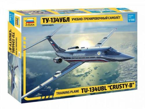 Russian Training Plane TU-134 UBL Crusty-B 7036 Zvezda  1:144 New!