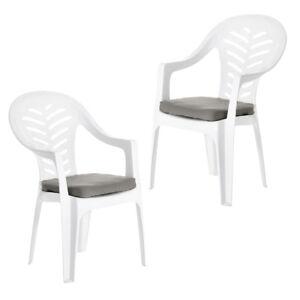 Pack de 6 Bleu Coussin Plaquettes Pour Resol Palma//Cool plastique chaises de jardin