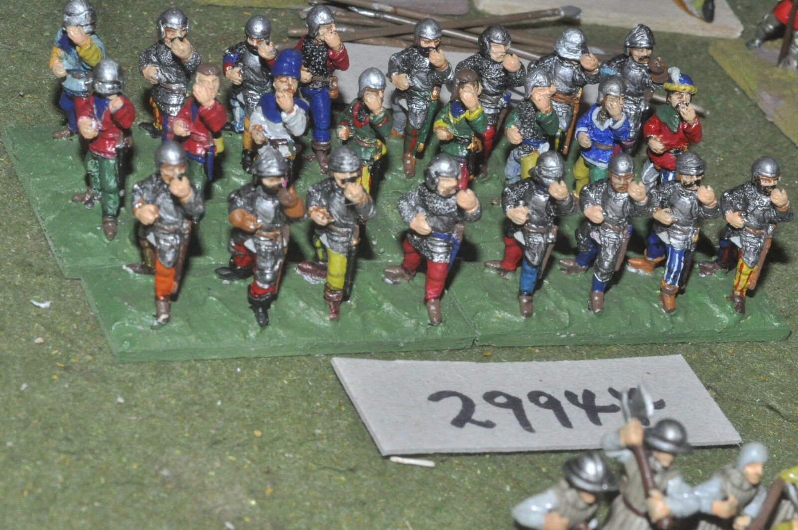 25mm medieval   english - spearmen 24 figures - inf (29944)