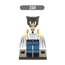 Wolverine white T-shirt fittable in Lego minifigure Marvel superhero set X-Men