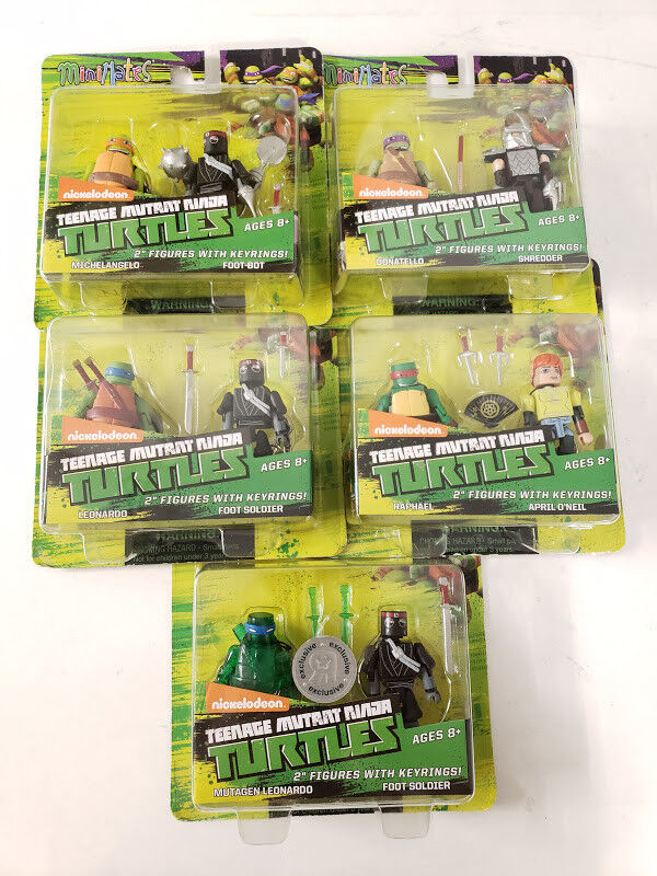 Minimates Teenage Mutant Ninja Turtles Nickelodeon Lote de 5 Leo Raph Mikey Don Diamante Select Nuevo Sellado