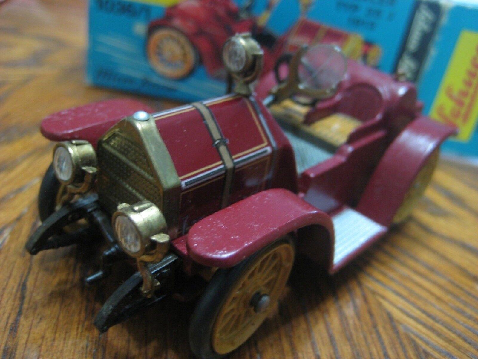 Original Schuco Micro Racer (Alemania) Oscuro Marrón Mercer tipo 35J 1913 Nuevo En Caja