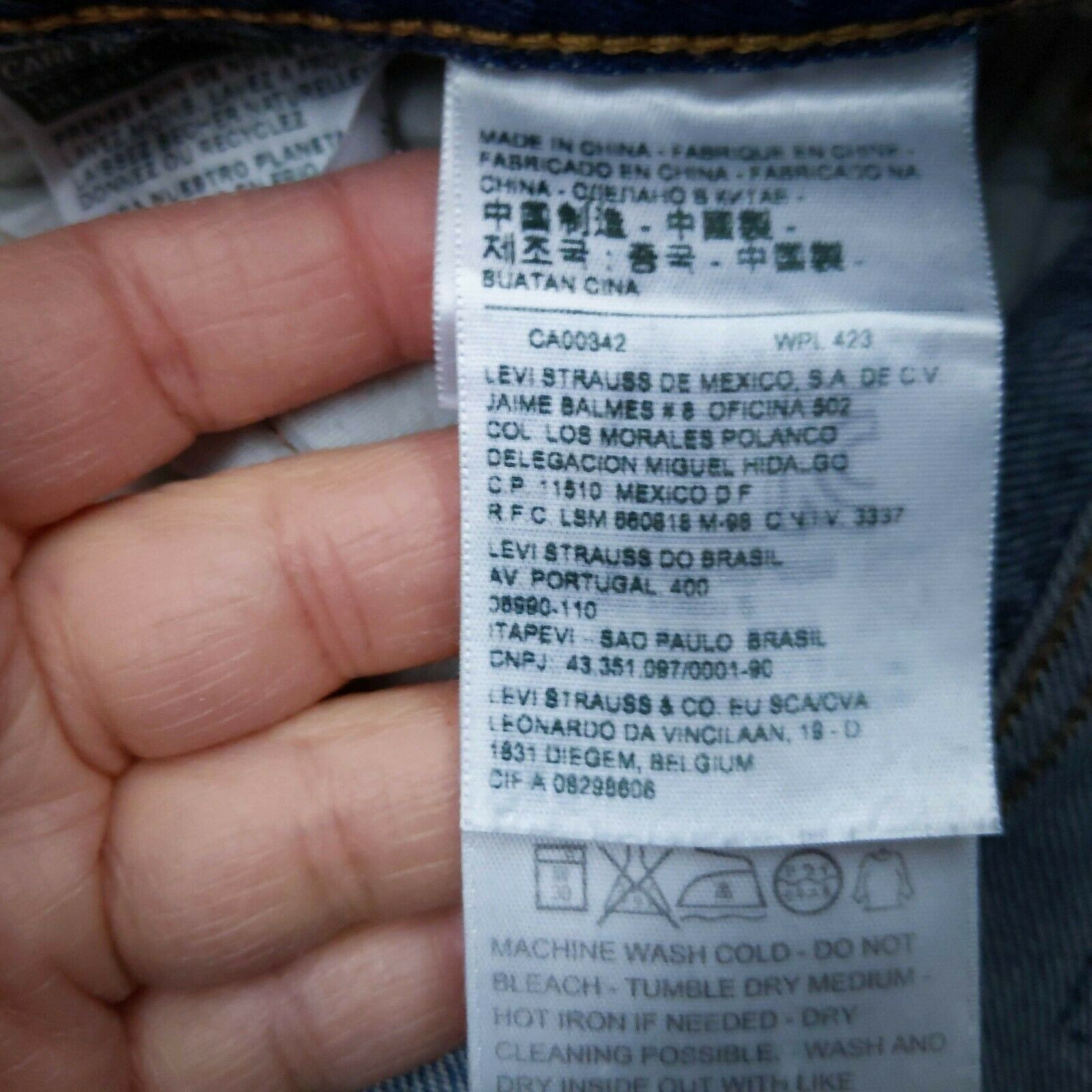 Levis CT 501 Womens Cropped Jeans Size 31x29 Cher… - image 7
