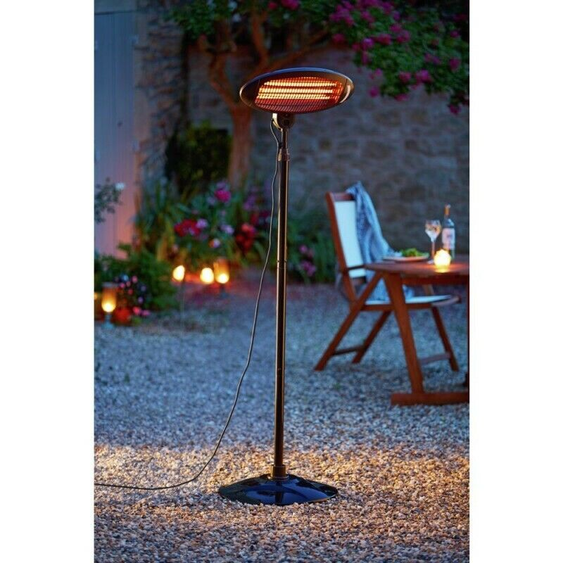 La Hacienda Outdoor Patio Heater Freestanding Electric Quartz 2000W FREE P&P