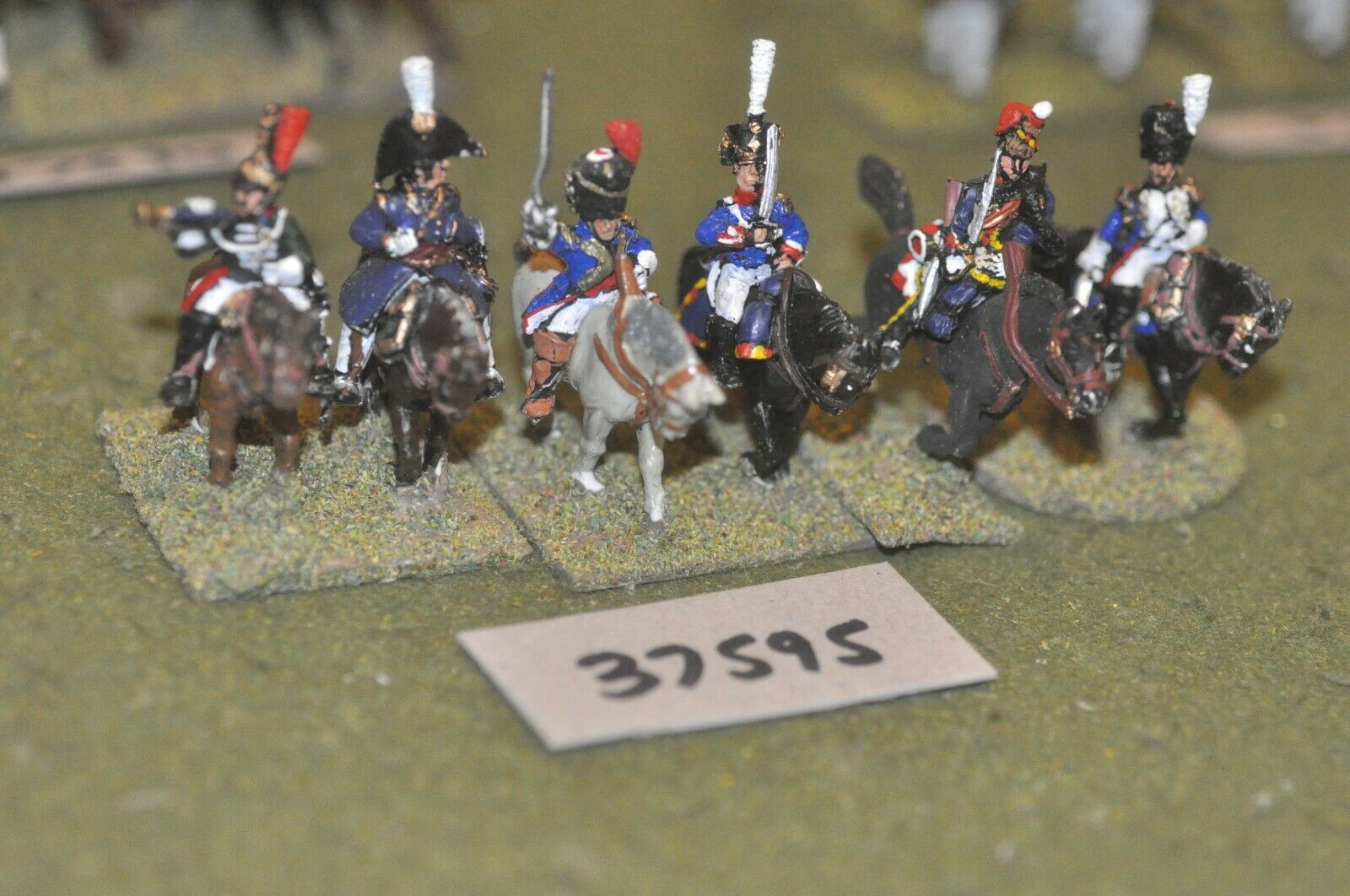 25mm napoleonic   french - officers 6 figures - command (37595)