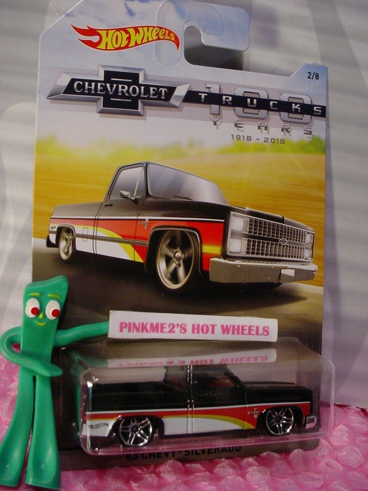 Hot Wheels 2018 Chevrolet 100 years Trucks series /'83 CHEVY SILVERADO black