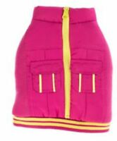 Top Paw Neon Zipper Cargo Dog Girl's Pink Vest Sz S