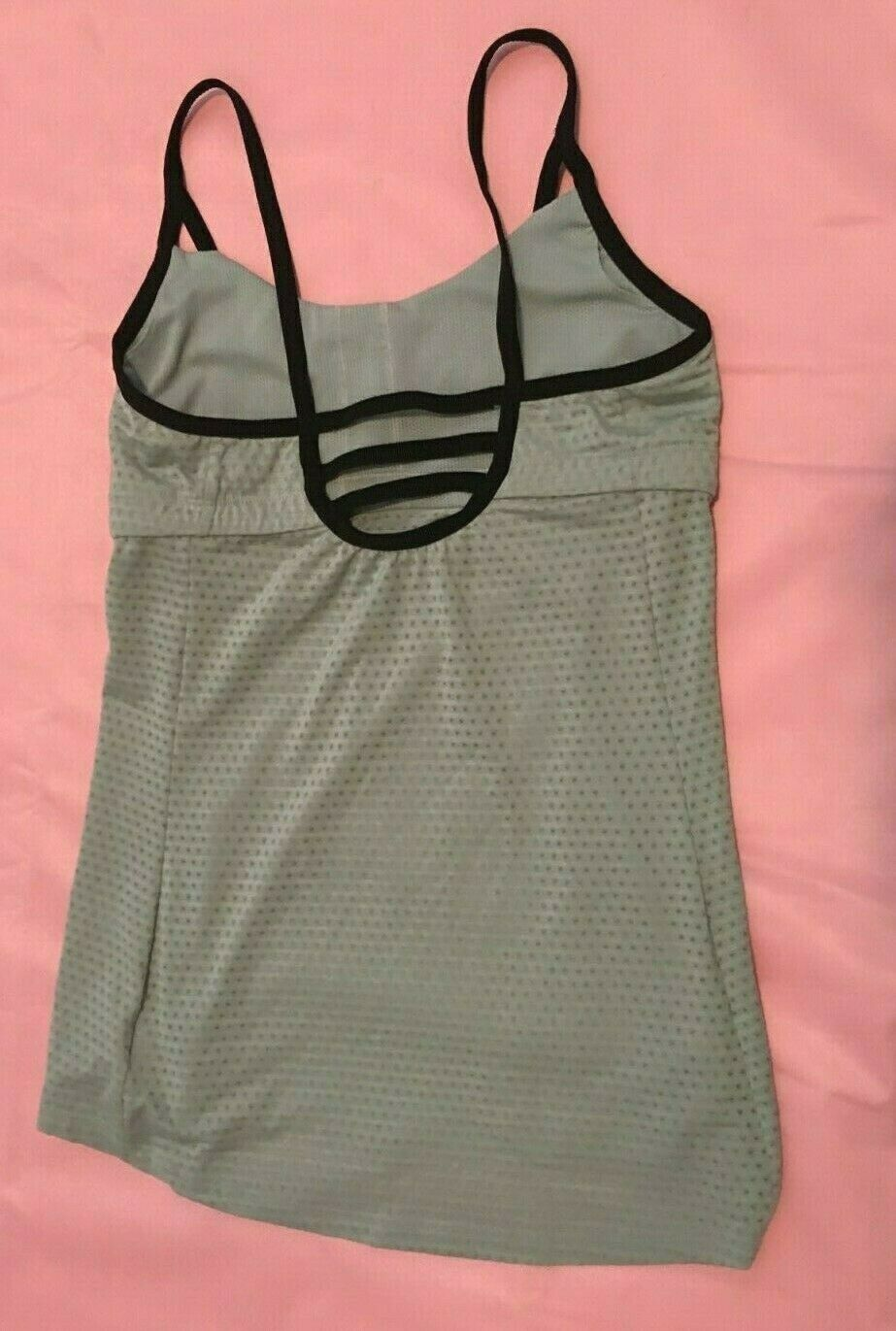 Athleta Workout Yoga Tank Top Light Gray size XS