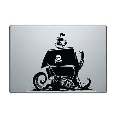 Pirate Decal for Macbook Pro Sticker Vinyl laptop mac funny ship 11 13 15 skull
