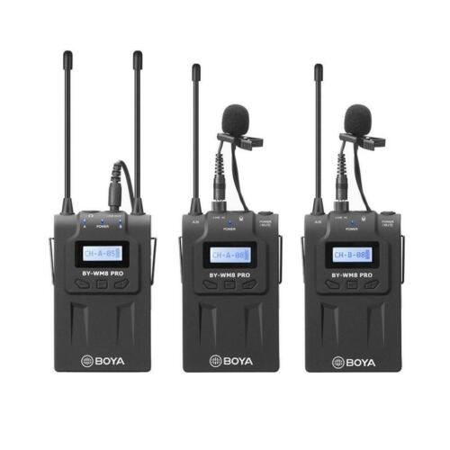 2x Trasmet Boya BY-WM8 PRO K2 Kit Sistema Microfono Lavalier Pulce Wireless UHF