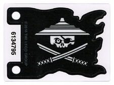 LEGO - Plastic Flag with White Ninjago Pirate on Black Background Pattern