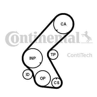 Contitech Continental Courroie de distribution arbre à cames CT1178-Genuine-Garantie 5 an