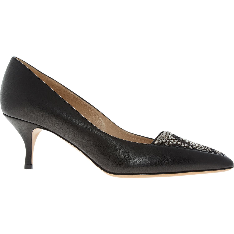 EMPORIO ARMANI Black Leather Heels - Genuine Designer Shoes - rrp £320 UK 5 6