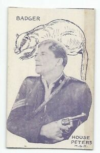 Rare 1920's Film Star & Animals Strip Card House Peters / Badger