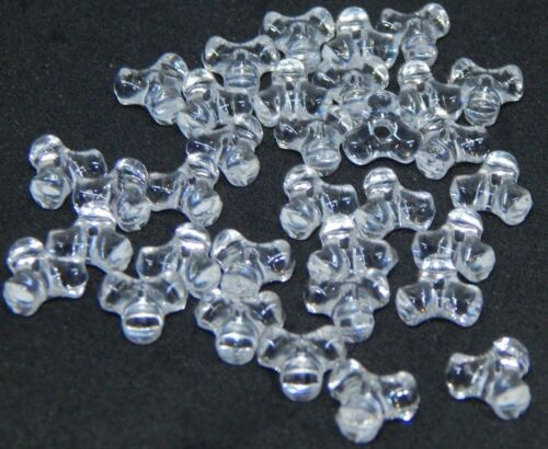 Tri-Beads-Crystal Clear Acrylic-11x11mm #2267 2mm Hole--You choose 500 or 1000