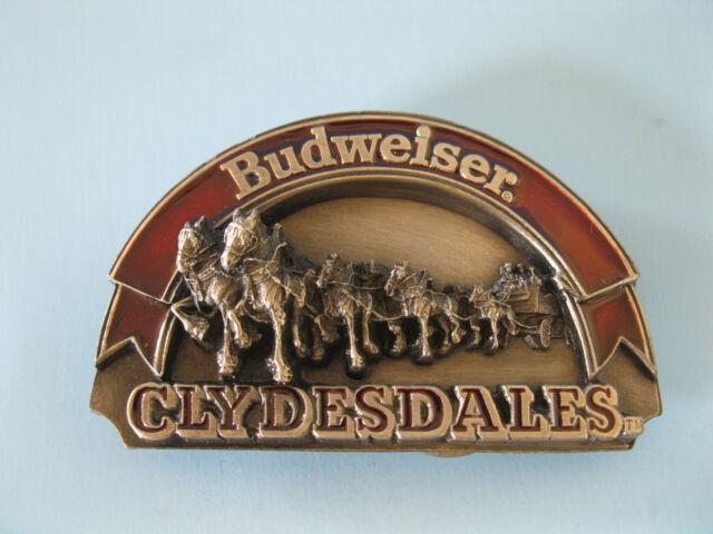 Vintage 1989 Budweiser Clydesdales Belt Buckle