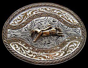Western-Belt-Buckle-Cowboys-Cowgirls-Rodeo-Horse-Boucle-de-Ceinture-Cheval