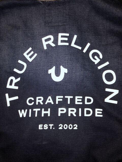 True Religion Kids Boys Denim Blue Hoodie Sweat Jacket ...