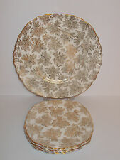 5 x Colclough Bone China Tea Side Plates and Cake Plate Gold Guild Design Lovely