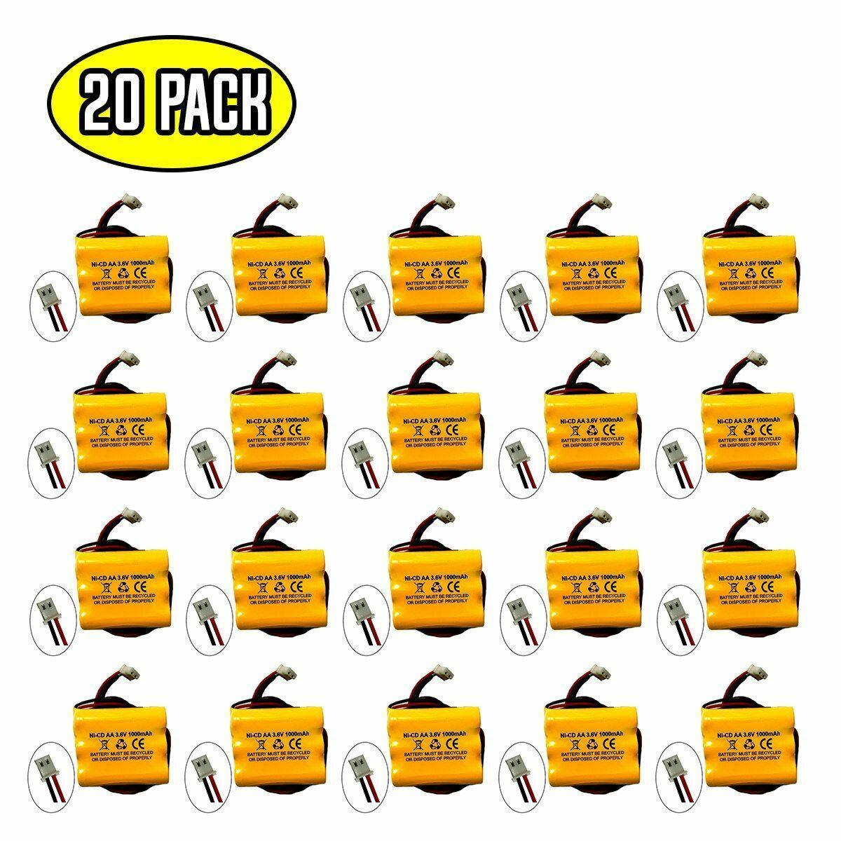 (20 pack) 3.6v 1000mAh Ni-CD Battery for Emergency / Exit Light