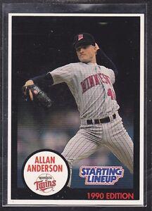 1990 ALLAN ANDERSON - Kenner Starting Lineup Card - Minnesota Twins - Blue