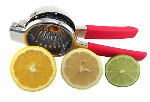 Lemon-amp-Lime-Squeezer-Stainless-Steel-Manual-Juicer-Citrus-Press-Large-Bow